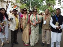 Attending Shri Rahul Gandhi Programme at Goregaon