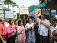 Christians in Mumbai protest 3