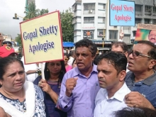 Christians in Mumbai protest